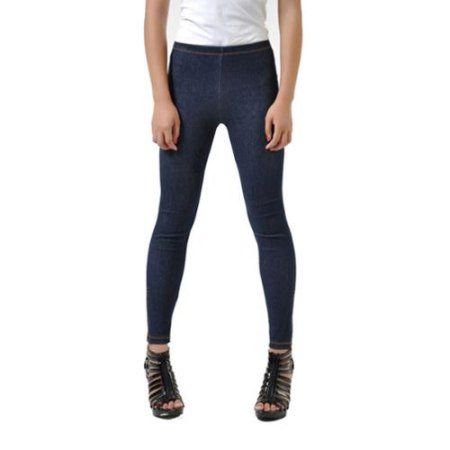 Women's Seamless Knitted Jean Jegging Leggings Jeggings Medium/Large Size (M/L) - Blue