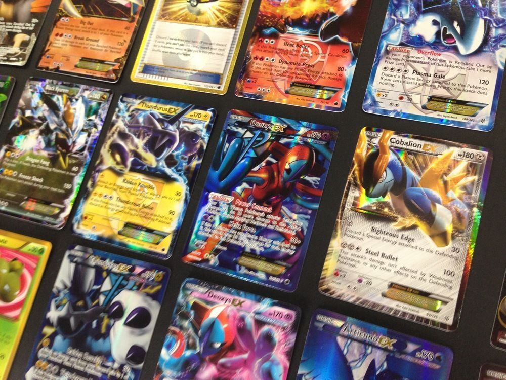 GUARANTEED 5 HOLO & EX Pokemon 50 Card Lot Rare Ultra Rare FA Common Unc.