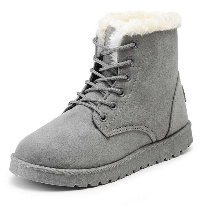 98eb968bfb8eb 2016 NEW Women Boots Warm Winter Snow Boots Suede Ankle Boots Female Bowtie  Thick Plush Inside Shoes Botas MujerUSD 19.99-23.50/pairWomen Winter Boots  Sued