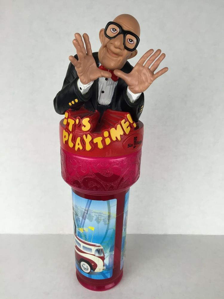 Vtg Six Flags Its Play Time Souvenir Cup Mr Six Souvenir Cups Six Flags Its My Birthday