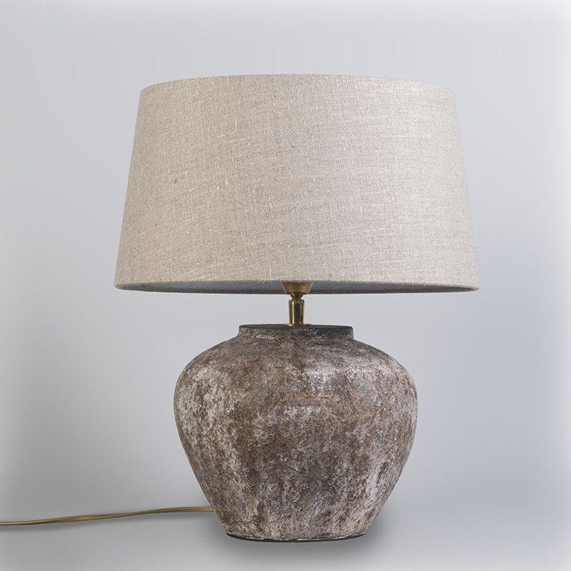 Tafellamp Inca XS Vintage met kap 35cm linnen naturel