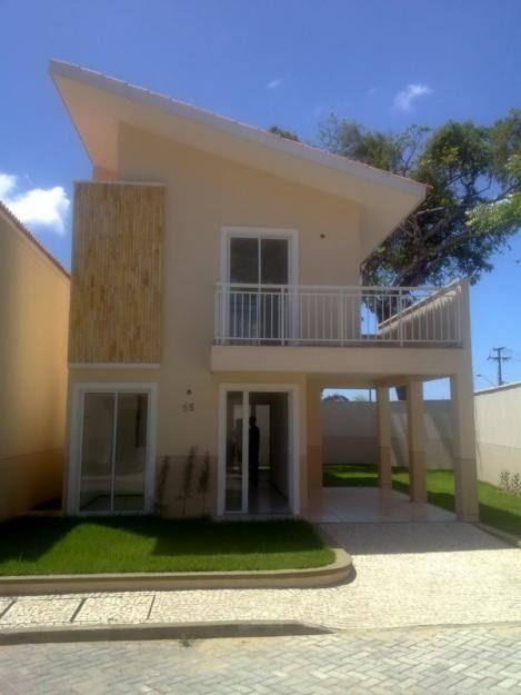 Fachadas casas com varanda e garagem pesquisa google for Casas modernas pequenas imagenes