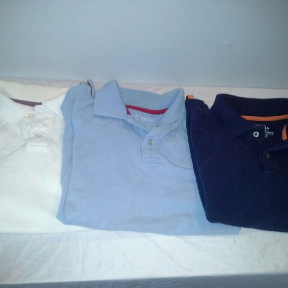 Arizona youth boys shirts Large +Good used comdition, normal wear +Youth, boys +Brand: Arizona +Large +All short sleeves +$5  for all 3 together Arizona Jean Company Tops