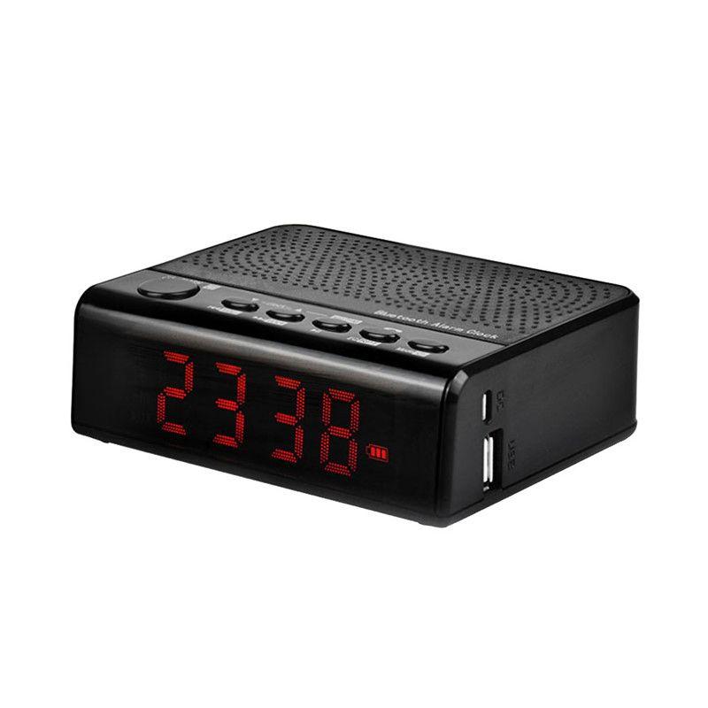 LEADSTAR MX-19 Bluetooth Speaker Portable MP3 Player Alarm Clock ...
