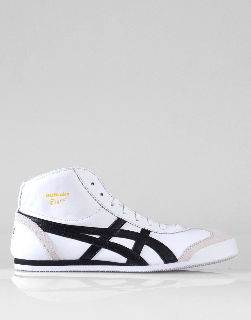 new product 1170c 5b29c Onitsuka Tiger Mexico Mid Runner White / Black / Yellow ...