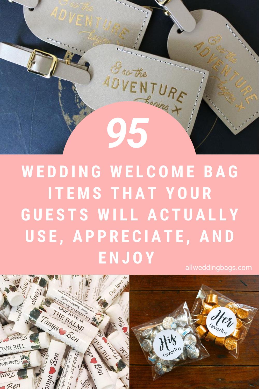 95 Wedding Welcome Bag Items In 2020 Wedding Hotel Bags Wedding Hotel Guest Bags Welcome Bags