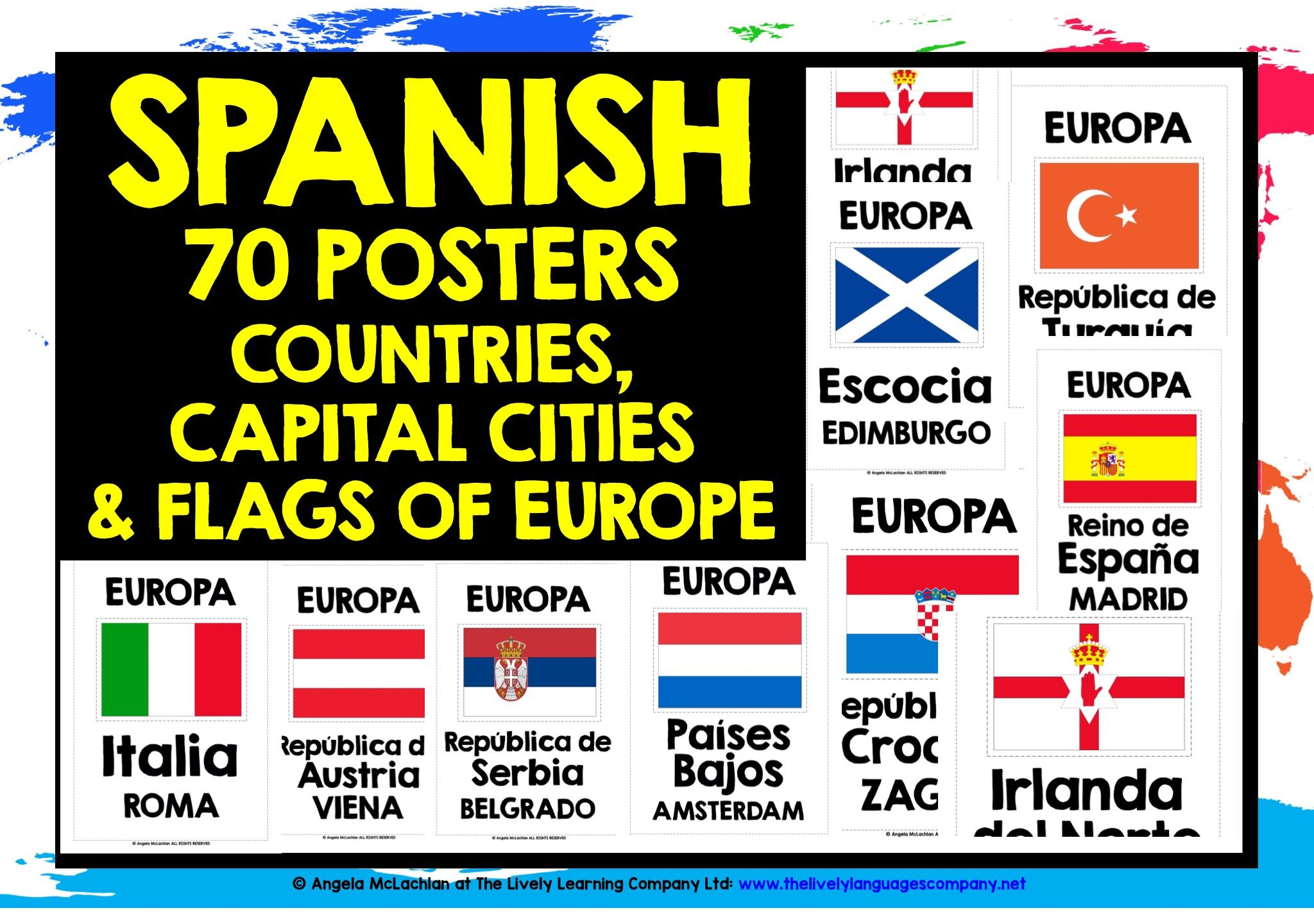 Spanish Europe Posters En Espanol With Images