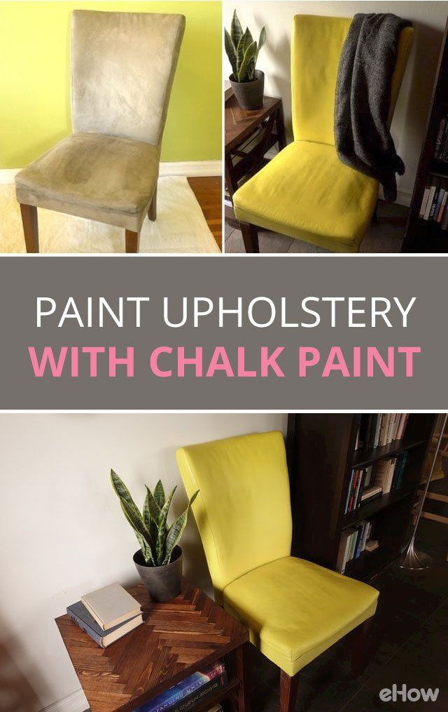 Paint Fabric Upholstery with Chalk Paint Tutorial   eHow is part of Painting fabric chairs - How to make over a piece of fabric upholstered furniture with chalk paint as an alternative to reupholstery