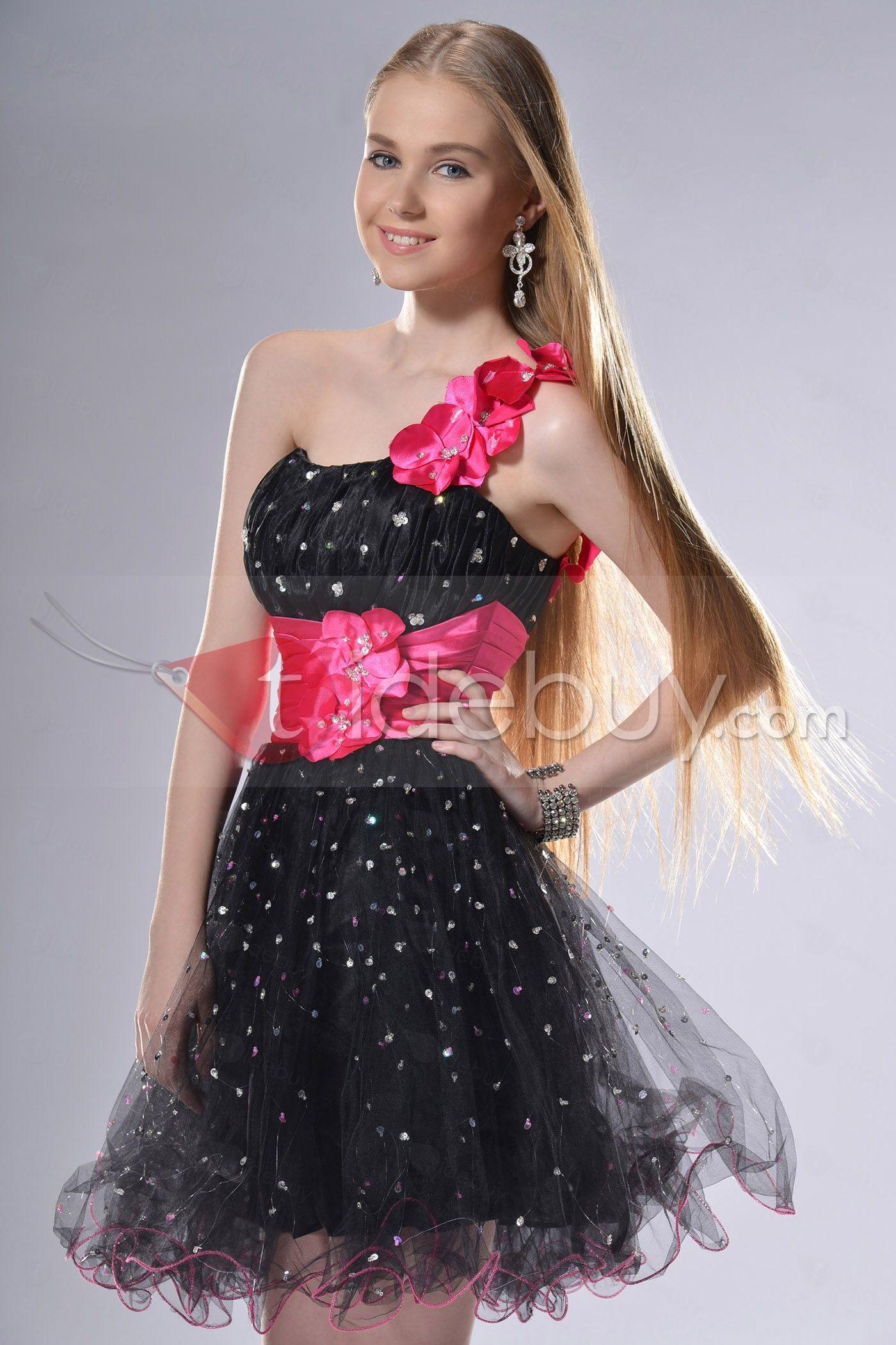 vestidos de promocion de primaria cortos chicle - Buscar con Google ...