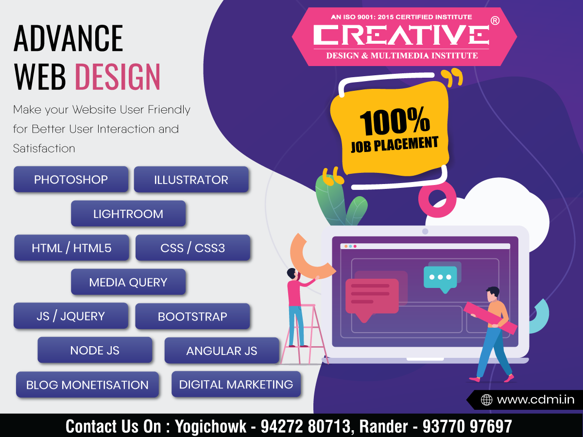 Are You Looking For Professional Web Designing Training In Surat If Yes Then Look No Further Creative Desig Web Design Course Web Design Training Web Design