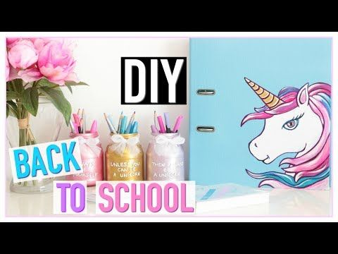 diy back to school licorne pas cher fournitures scolaires fran ais youtube day. Black Bedroom Furniture Sets. Home Design Ideas