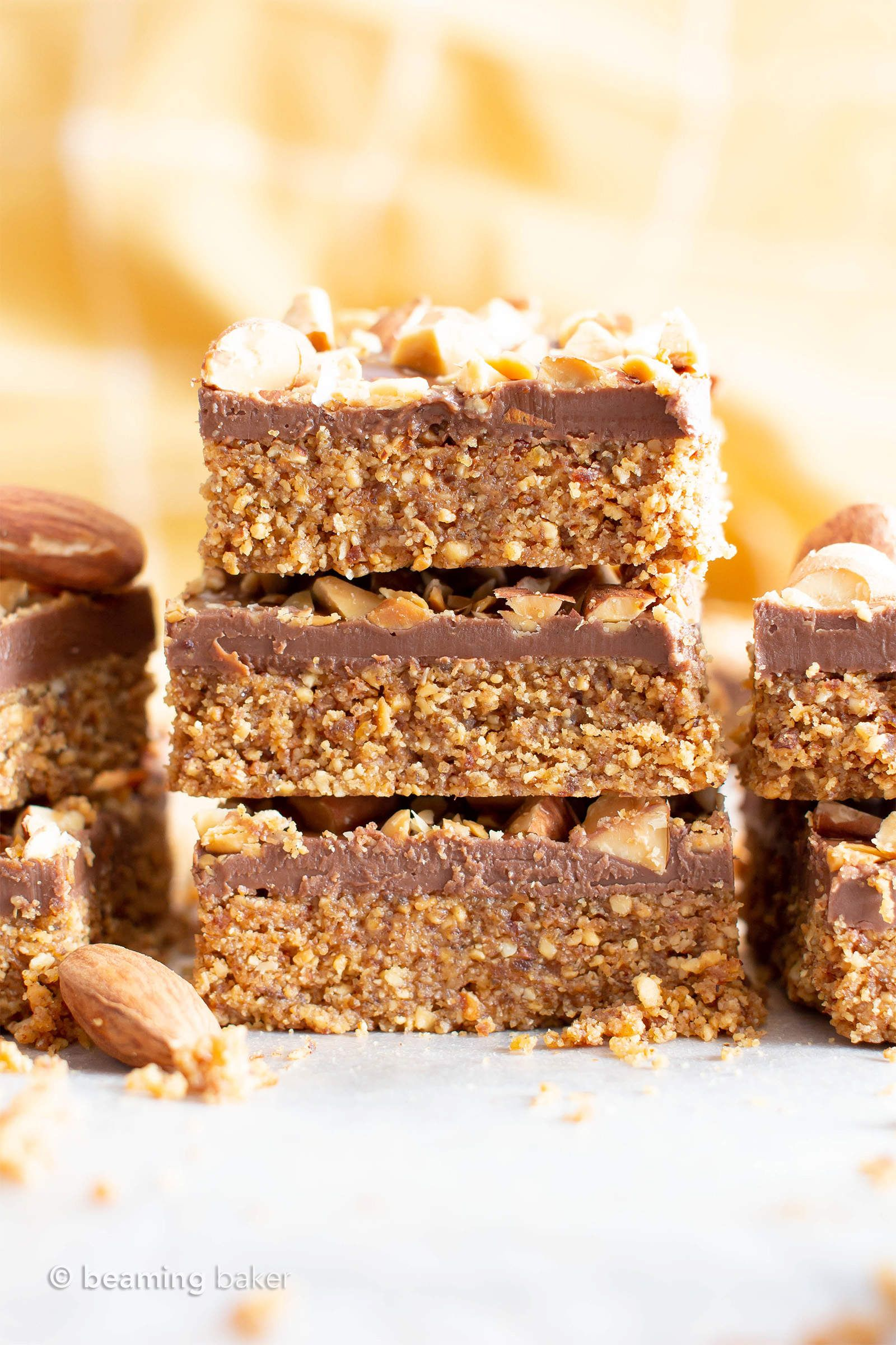 4 Ingredient No Bake Paleo Chocolate Almond Bars V Gf This