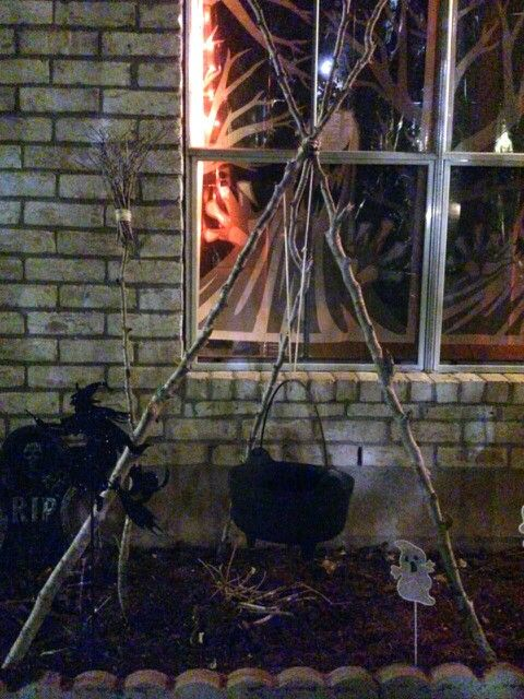 Homemade Witches Cauldron Stand Witches Cauldron Cauldron Homemade