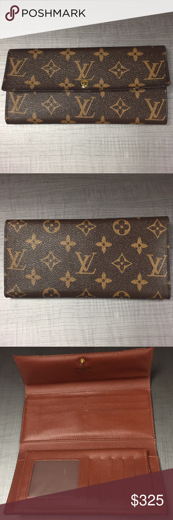 43897ae52334 Louis Vuitton Wallet EUC Authentic LV wallet. Gently used with one flaw in card  holder