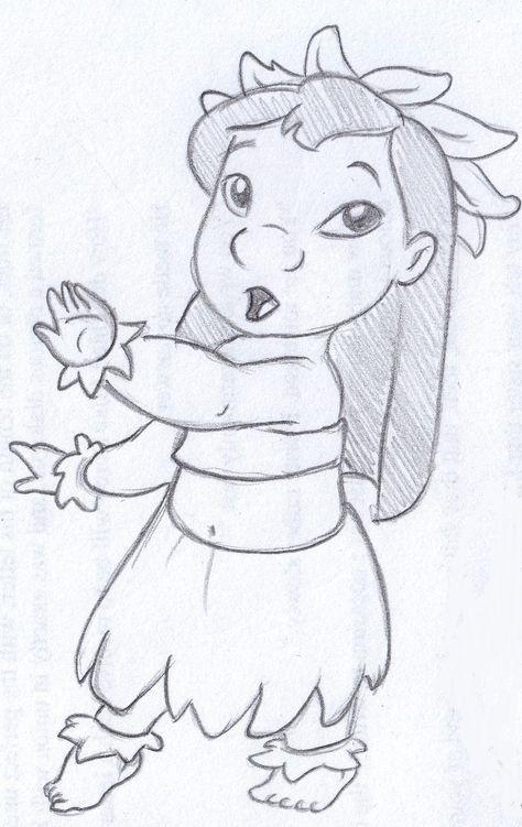 Disney Sketch Lilo Dancing Hula Desenhos Aleatorios Desenhos