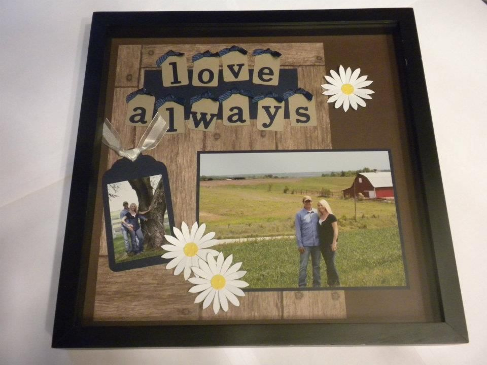Wedding Shadow Box | TURN A SCRAPBOOK PAGE INTO A WORK OF HEART ...