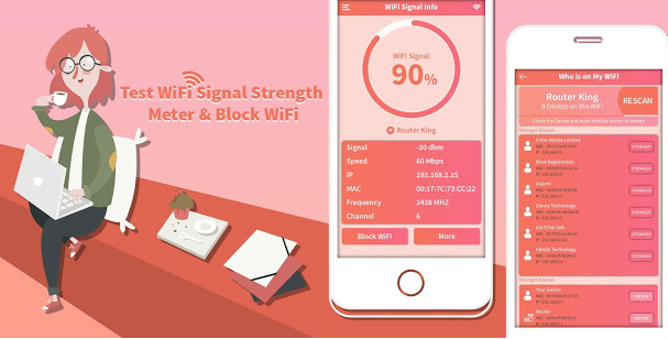 Test WiFi Signal Strength Meter Block WiFi v1 0 ad free Apk