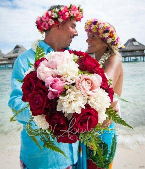 matrimonio in polinesia bouquet