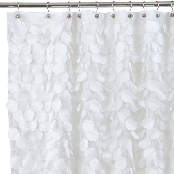 Gigi White Fabric Shower Curtain Bed Bath Beyond With Images