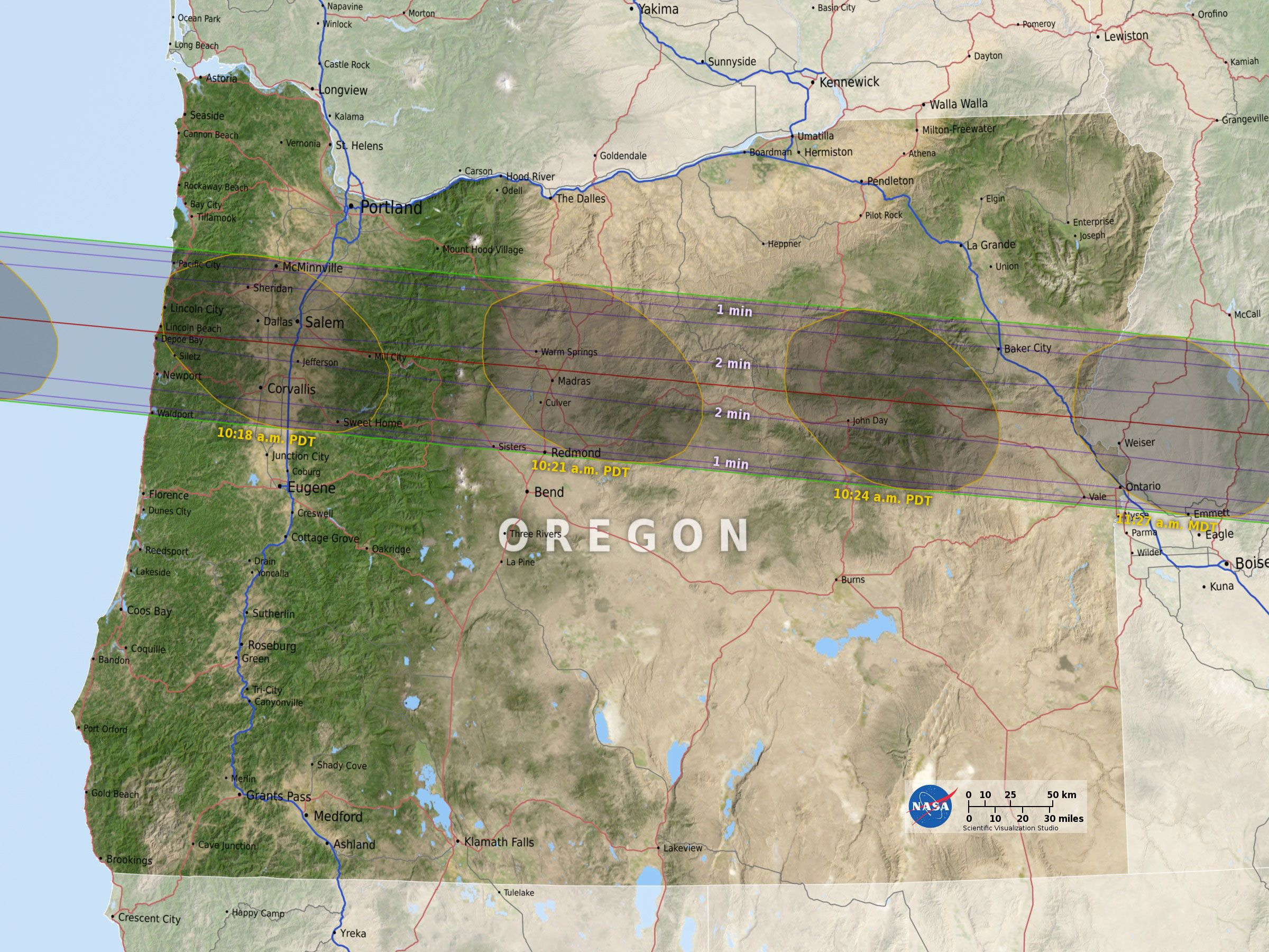 Oregon Is In The Direct Path Of The 2017 Total Solar Eclipse Here