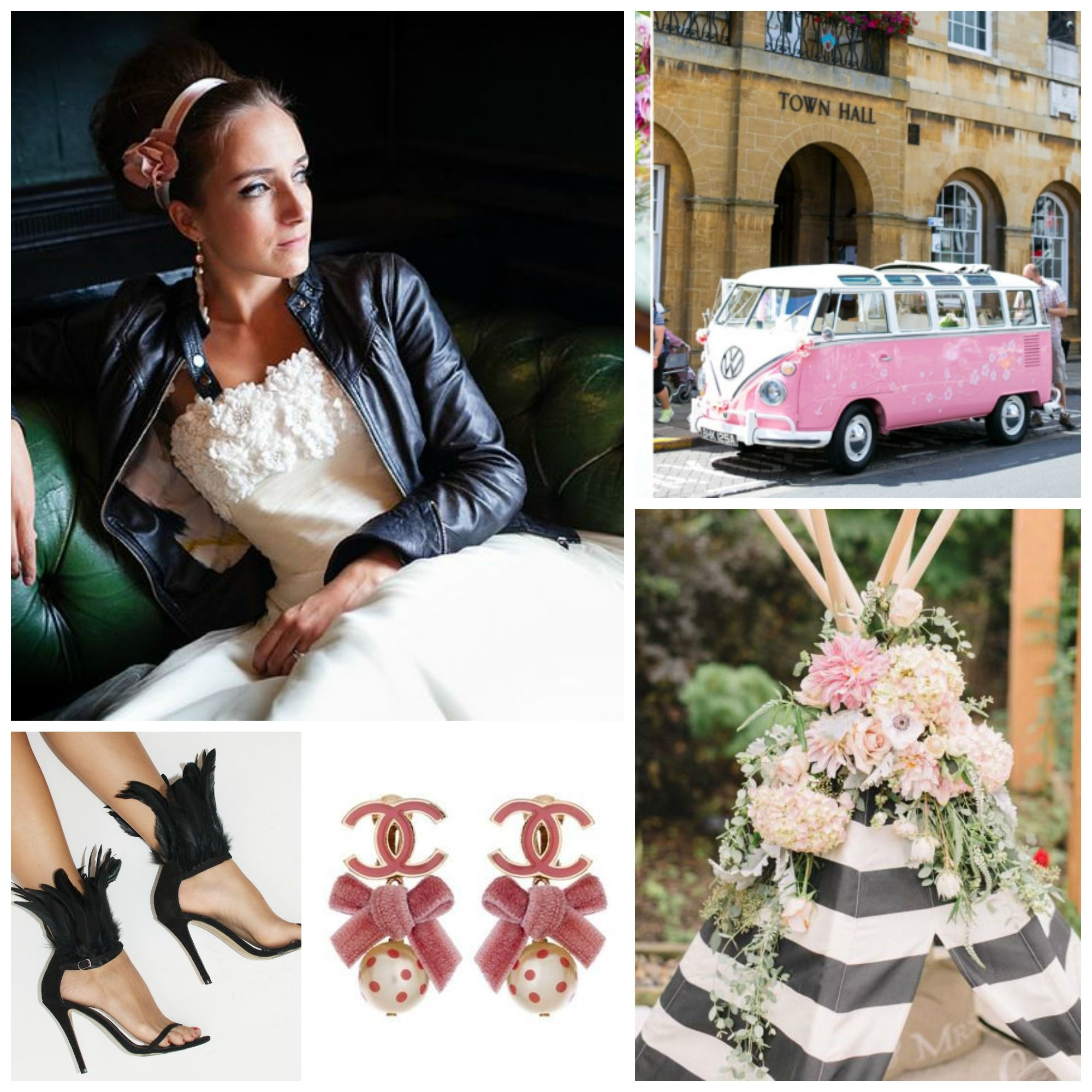 Pink dress and jacket for wedding  Sassi Holford wedding gown Pink Black and you wedding Black
