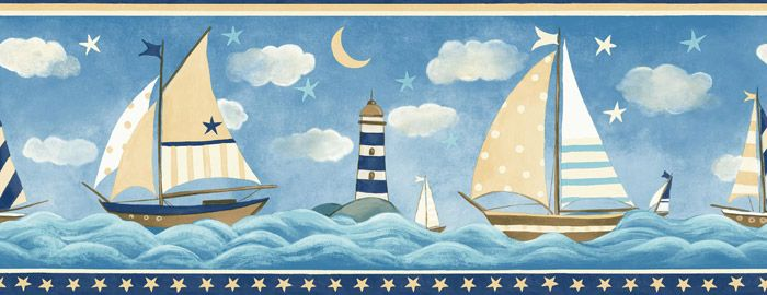 Wall Stickers Wall Border Ships And Maritime Lighthouse