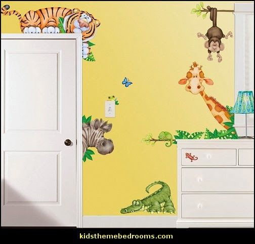 Decorating Theme Bedrooms Maries Manor Jungle Baby Bedrooms - Jungle themed nursery wall decals