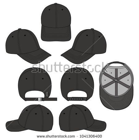 baseball cap vector illustration flat sketches template 服装款式图
