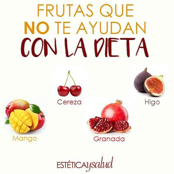 Frutas que no te ayudan con la dieta