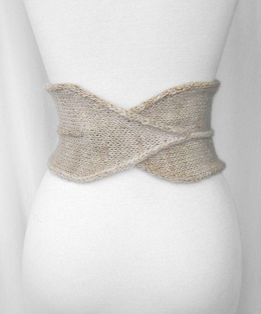 cinturón de punto - patrón gratis en ravelry | punto | Croché ...