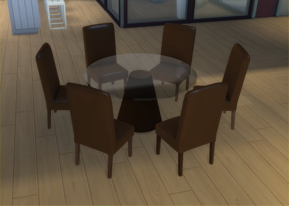 8 Seater Round Dining Table And Chairs Football Bean Bag Mod The Sims Modern 6