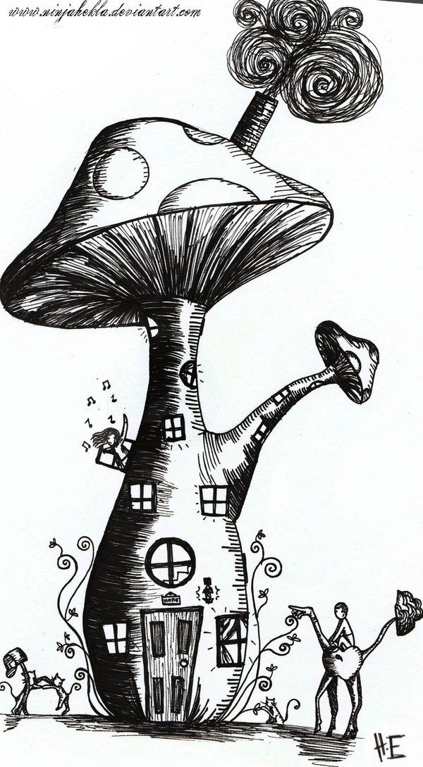cartoon mushrooms coloring pages - photo#39
