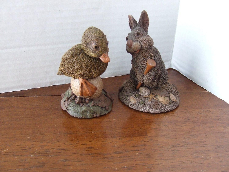 Golf Figurine, Duffy The Golf Course Duck, Golf Decor, Golf Office Decor, Office  Decor Golf, Vintage Golf Figurine, Bunny, Animal Golf Decor
