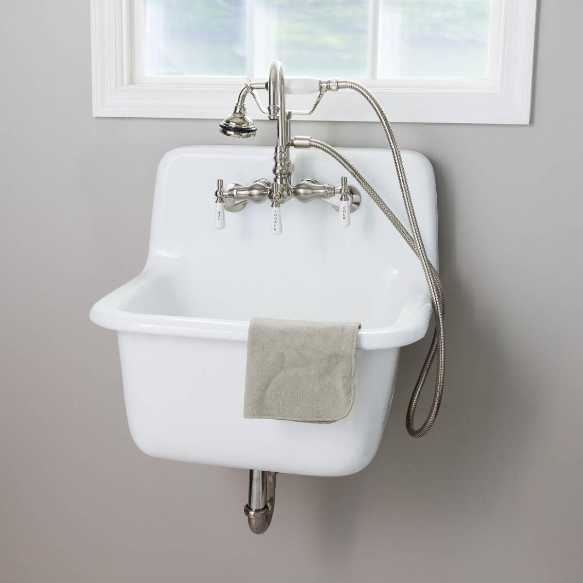 22 Inch Cast Iron High Back Deep Utility Sink Utility Sink