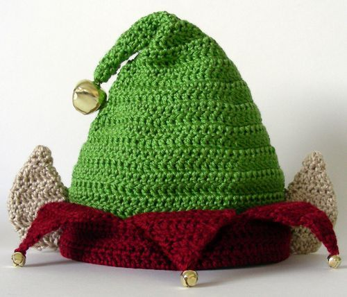 Crocheted Elf Hat, all sizes. This website charges a minimal amount ...