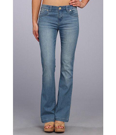 Buffalo David Bitton Ferria Mid-Rise Flare Jean in Blue Vintage