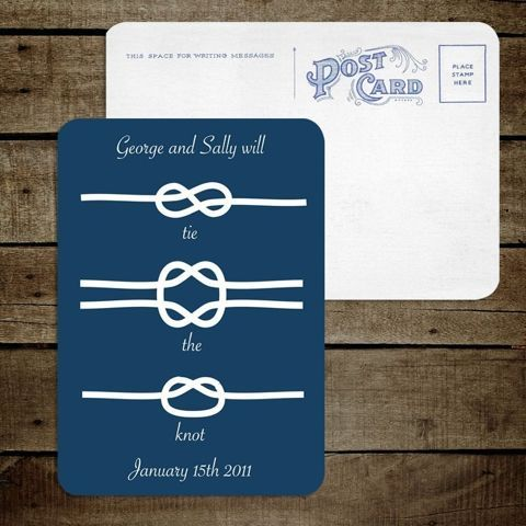 Tie the knot save the dates