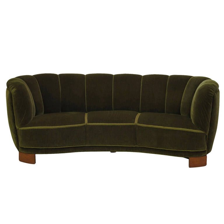 1940s Scandinavian Deco Green Mohair Sofa | From A Unique Collection Of  Antique And Modern Sofas At Https://www.1stdibs.com/furniture/seating/sofas/