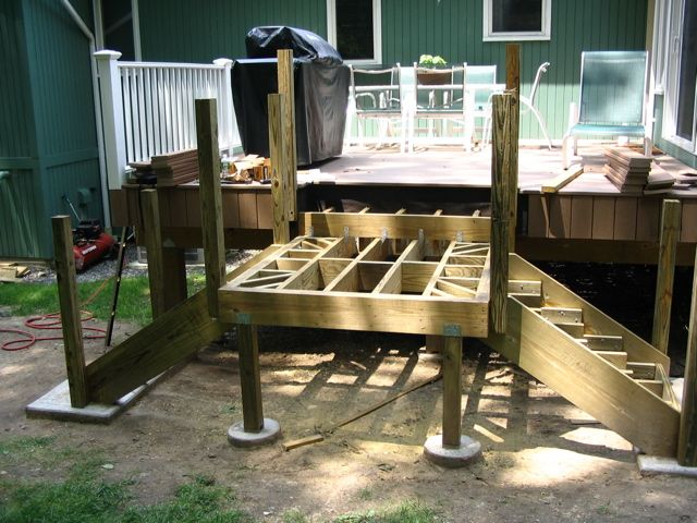 deck steps with landing how to build stairs easy steps building