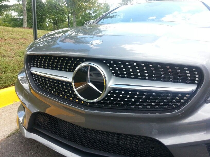 The beautiful diamond grill in the all new MercedesBenz