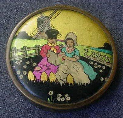 A vintage button.  Love it!