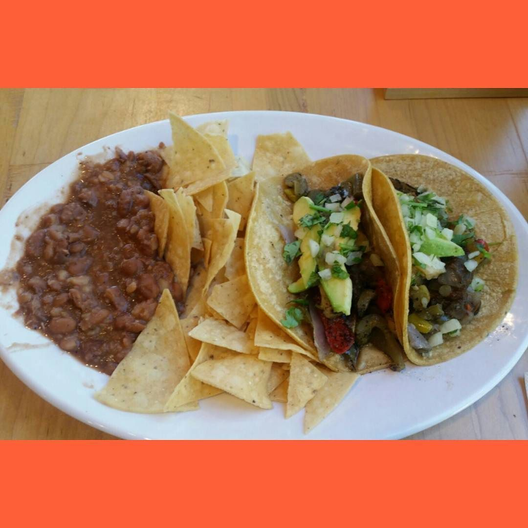 Had lunch at Rubio's. Veggie Tacos with pinto beans and tortilla chips!  #vegan #PlantPowered #veganfood #whatveganseat #mexicanfood #tacos #veggies #ontario #socal #inlandempire #ie #food #lunch by thehazardousvegan