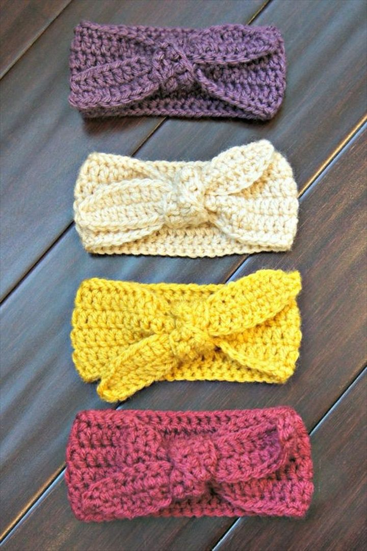 32 Crochet Headband Design & Ideas  #babyheadbands