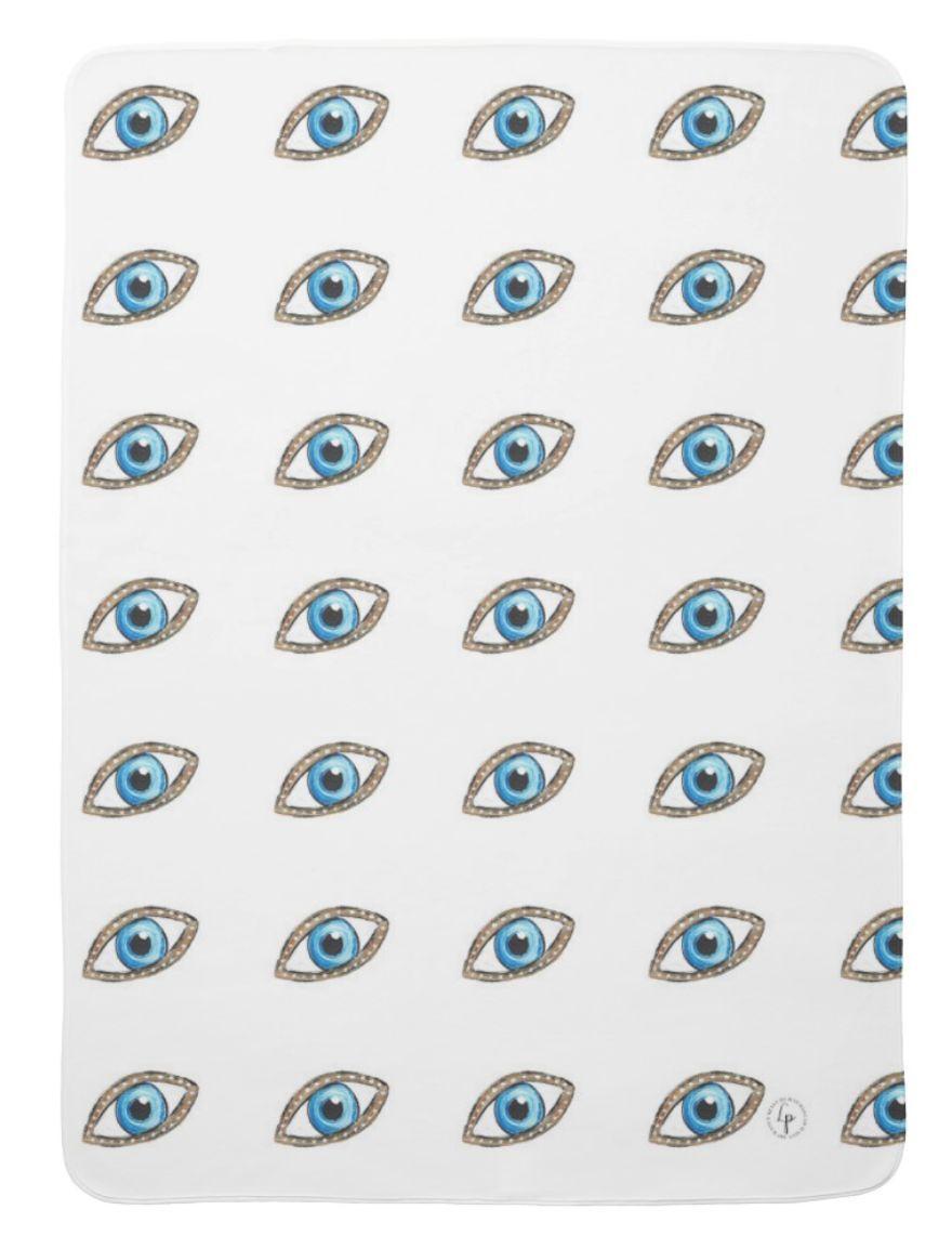 Mal de ojo ( Evil Eye) Baby swaddle Blanket