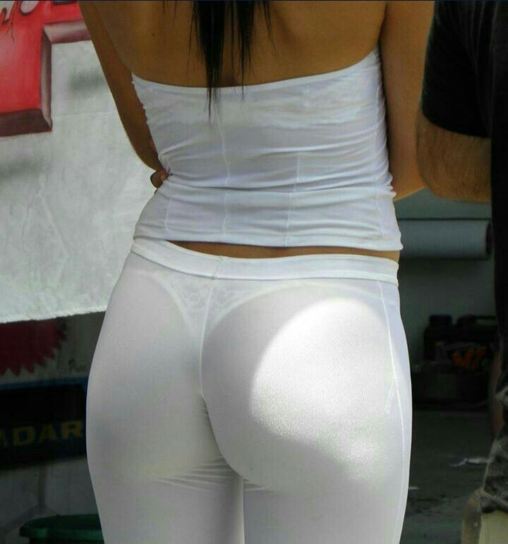 Ebony Porn White Leggings - See Through Clothes. Grid GirlsYoga LeggingsYoga PantsWhite ...
