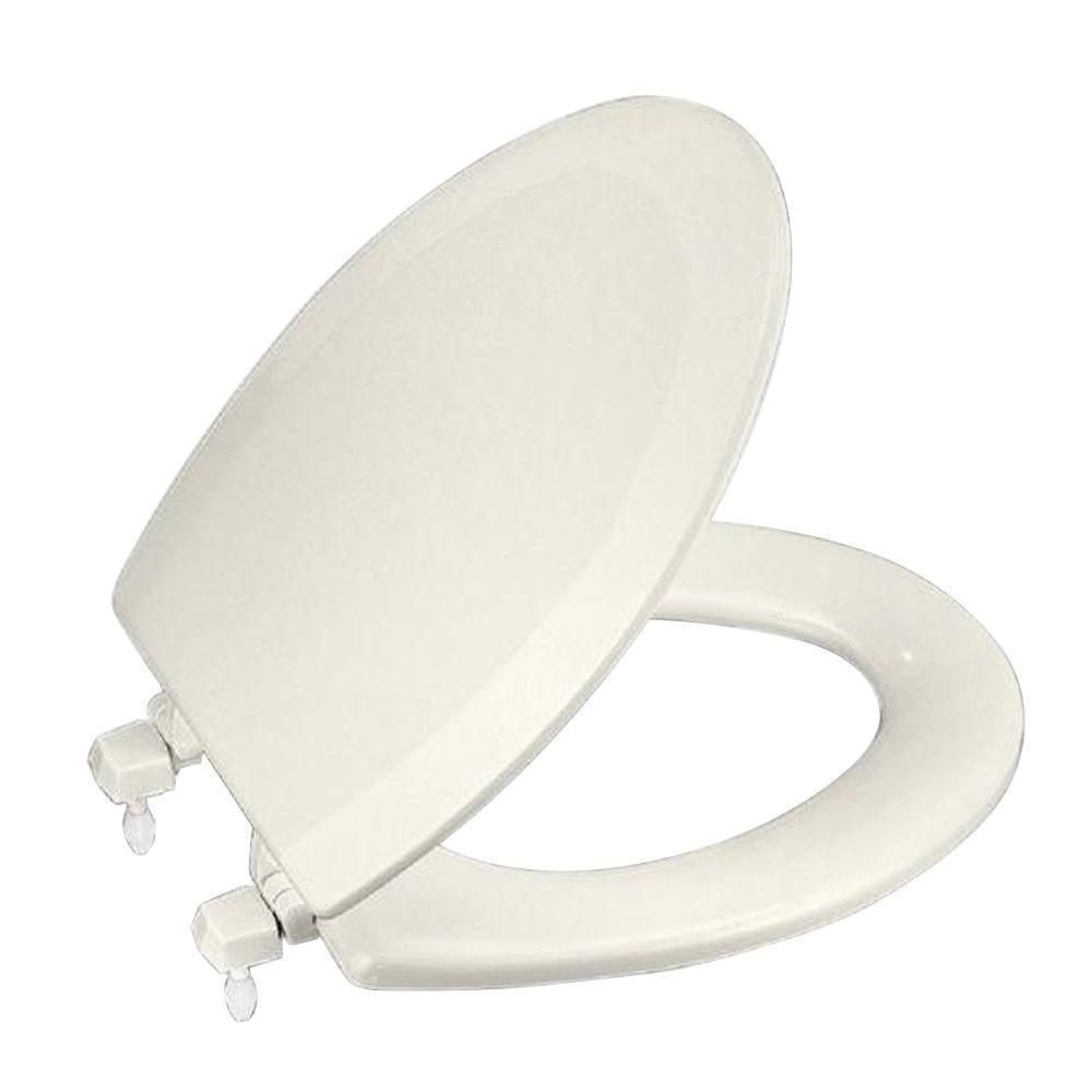 Fine Kohler Triko Elongated Closed Front Toilet Seat In Biscuit Beatyapartments Chair Design Images Beatyapartmentscom
