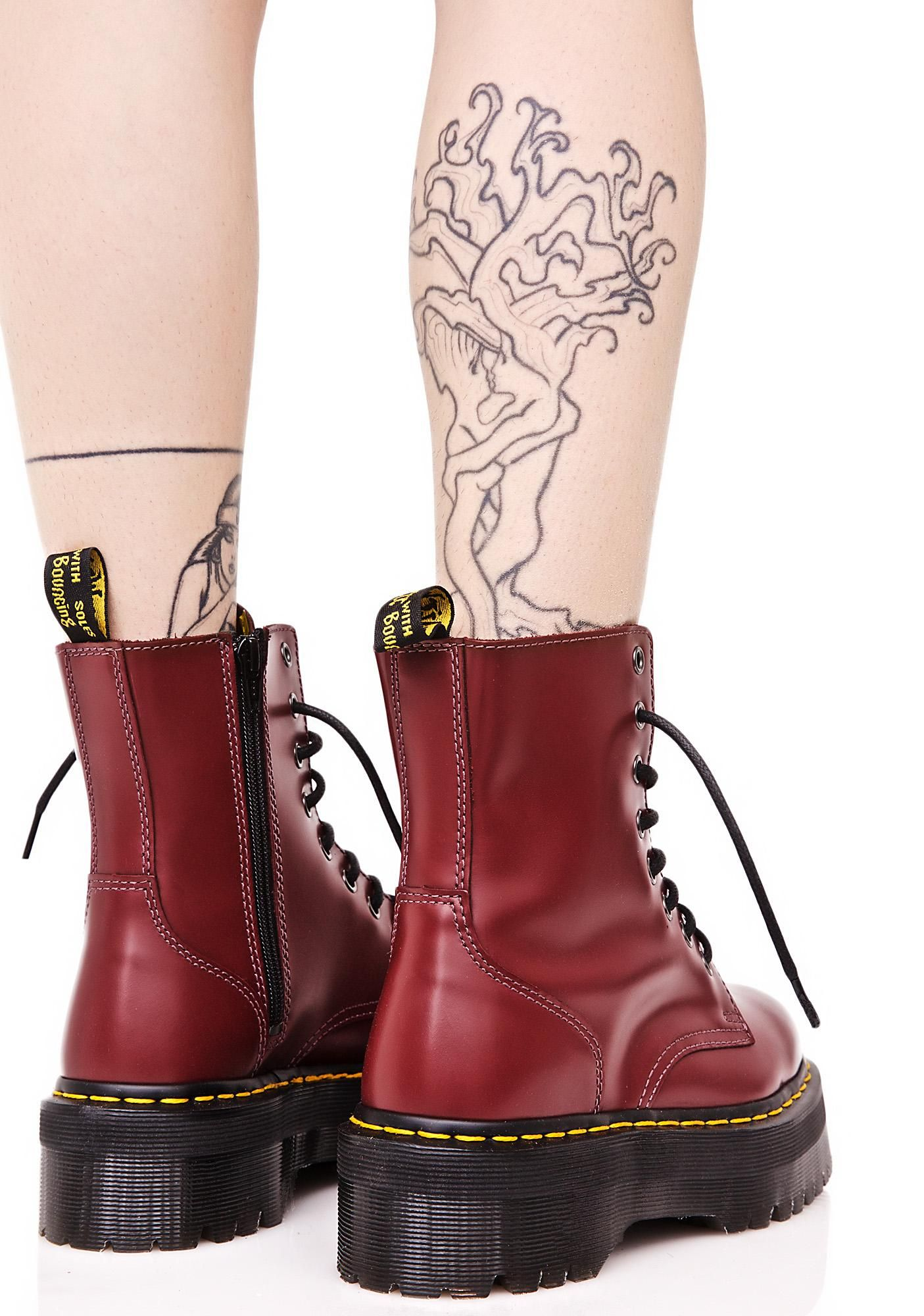 c7c983c196b5b Dr. Martens Jadon In Cherry Red   A dollop of decadence   Cherry red ...