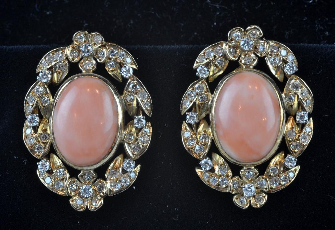 Online View Images And See Past Prices For Gold Diamond Pink C Clip Earrings Invaluable Is The World S Largest Marketplace Art Antiques