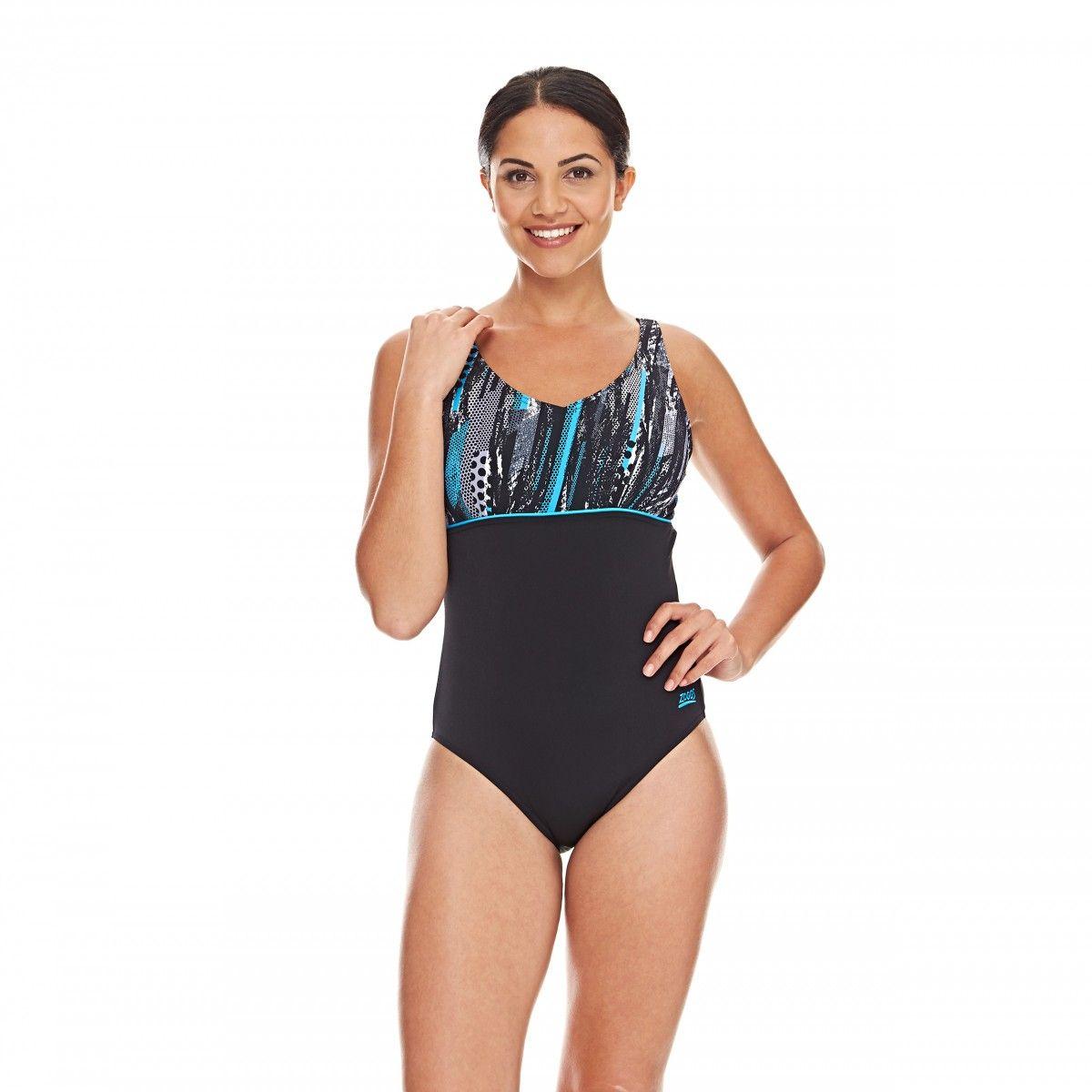 48f4754de14 Zoggs Women's Minnamurra V Neck Clipback Swimming Costume - Sizes 8 ...