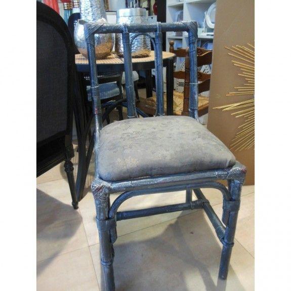 Envio gratuito .4 sillas vintage de bambú para salón o cocina ...